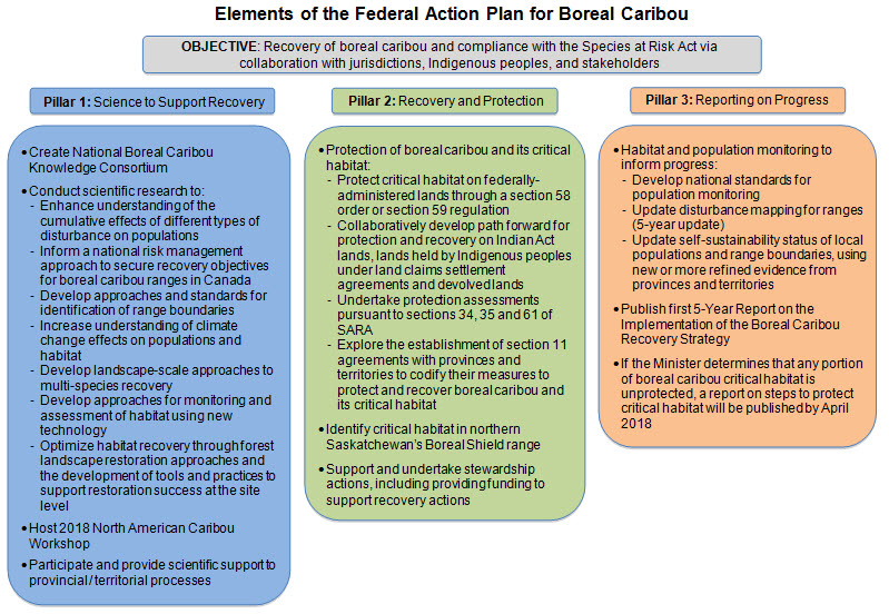 Elements of the Federal Action Plan for Boreal Caribou