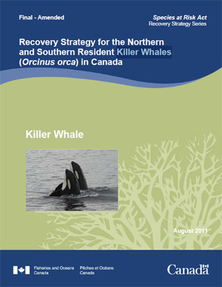 Recovery Strategy for the Northern and Southern Resident Killer Whales (Orcinus orca) in Canada - August 2011