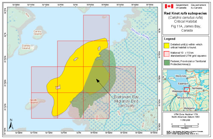 Map Of Canada James Bay.Species At Risk Public Registry Recovery Strategy And Management