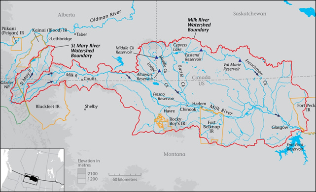The Milk River watershed