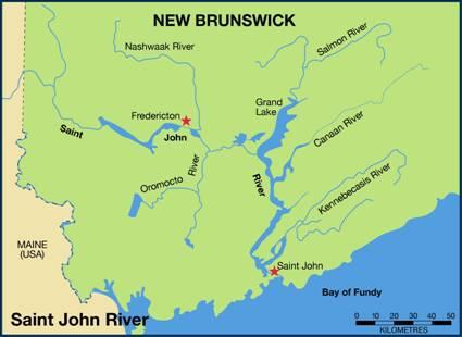St John River Maine Map.Management Plan For The Yellow Lampmussel Lampsilis Cariosa In