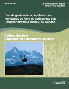 Couverture de la publication : Plan de gestion de la population des montagnes du Nord du caribou des bois (Rangifer tarandus caribou) au Canada [PROPOSITION] – 2011